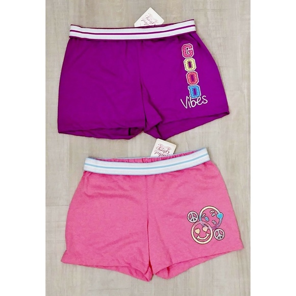 Faded Glory Other - NWT Set of 2 Girls' Cheer Dance Shorts L Smile